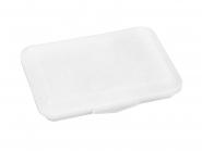 Klickbox Flach - ideal zum verwahren von Gesichtsmasken! Transparent | ohne Druck