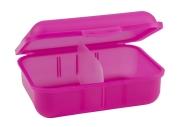 Klickbox mit Trennsteg Pink   ohne Druck