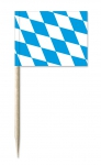 Portions-/Partyfähnchen mit Länderfahnen Bayrische Raute