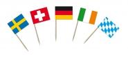 Portions-/Partyfähnchen mit Länderfahnen