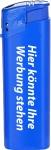 TOM Elektronik-Feuerzeug Blau | mit Druck