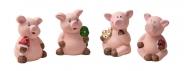 Glücksschweinchen sitzend