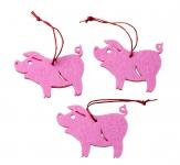 3er-Set Schweinchen-Glücksbringer-Anhänger