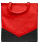 Non Woven Einkaufstasche Espoo Rot/Schwarz