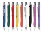 Druckkugelschreiber mit Gummibeschichtung
