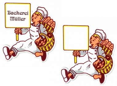 Bäcker-Magnet