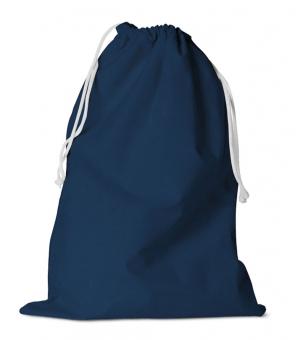 Zuziehbeutel aus Baumwolle 31 x 42 cm | Blau