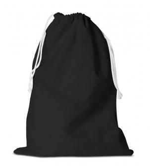 Zuziehbeutel aus Baumwolle 31 x 42 cm | Schwarz