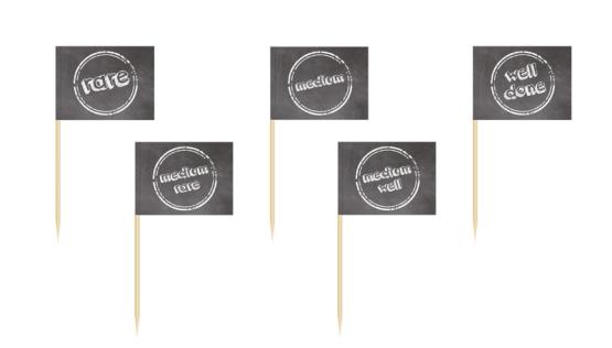 Portions-/Partyfähnchen zur Garstufenkennzeichnung