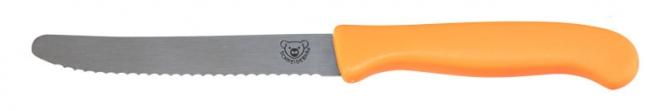 Schneidebär® Frühstücksmesser Orange | ohne Druck