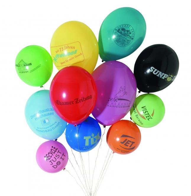 Luftballons mit 1-seitigem Siebdruck