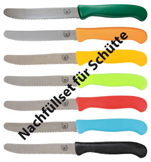 """Nachfüllset für """"Schütte mit Schneidebär® Frühstücksmessern"""""""