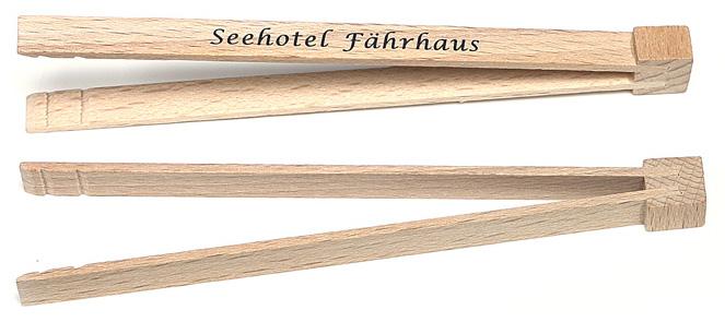 Fingerfood-Zange aus Holz
