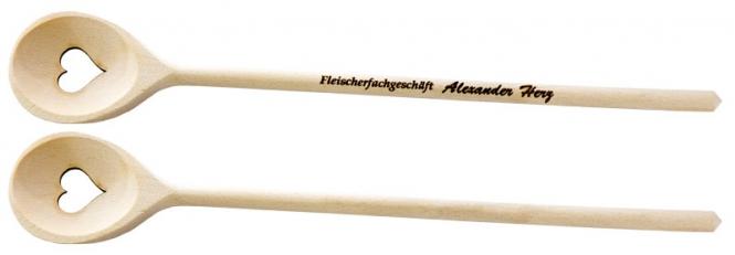 """Holzkochlöffel """"gebranntes Herz"""""""